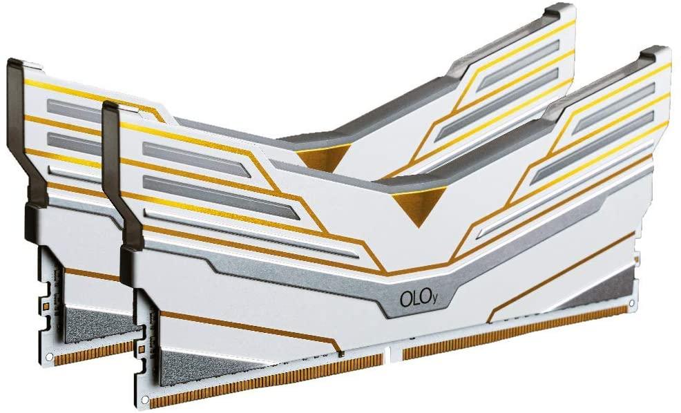 OLOy DDR4 RAM 32GB (2x16GB) Warhawk Aura Sync RGB 3200 MHz CL16 1.35V 288-Pin Desktop Gaming UDIMM (MD4U1632161DCWDX)