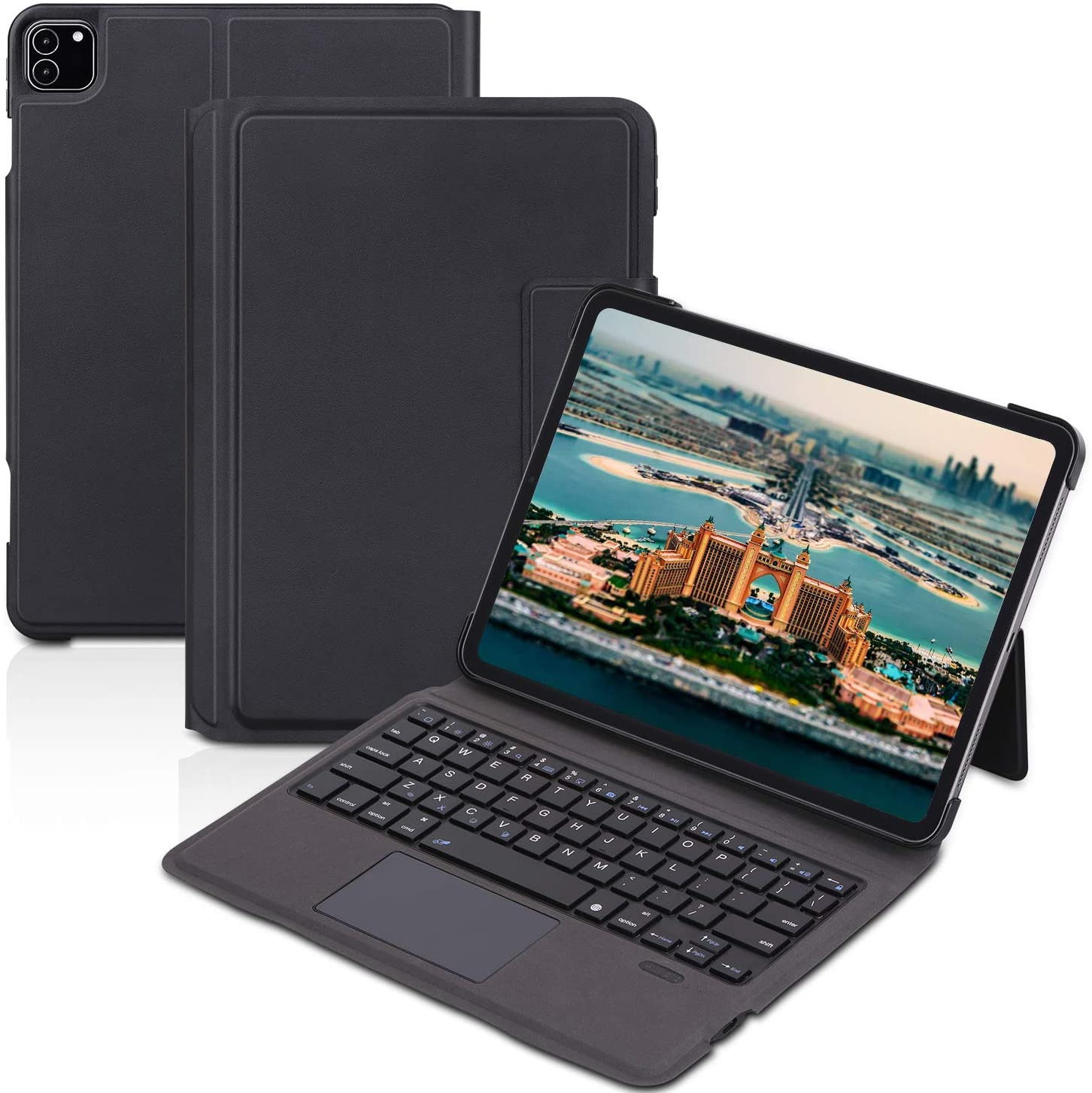 Ipad Keyboard Case 11 inch pro 2020 2nd Generation/2018 1st Gen- Touchpad Keyboard Bluetooth Slim Leather Folio Smart Cover for iPad 11