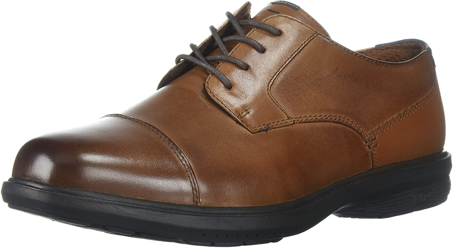 Nunn Bush Men's Maretto Cap Toe Oxford with Kore Slip Resistant Comfort Technology