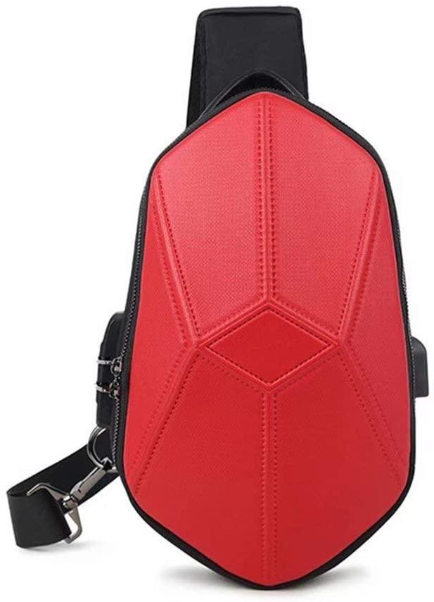 Chests Shoulder Bags Geometric Messenger Bag Waterproof Backpack Usb Anti-Theft Chest Bag Shoulder Bag Multi-Function