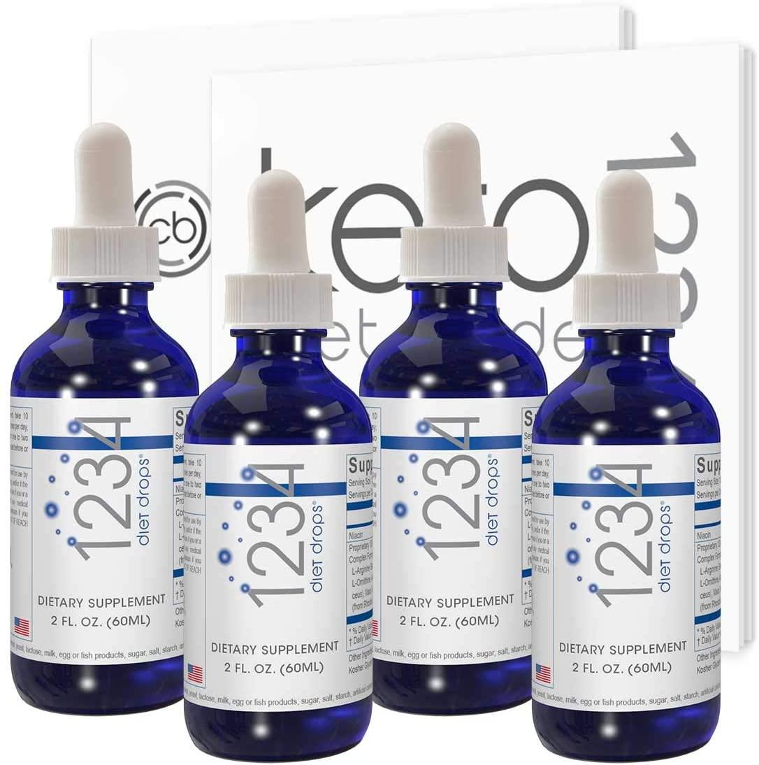 Creative Bioscience 1234 Diet Drops for Women & Men, Diet Drops for Weight Management, Keto Diet Drops, 2 Fl Oz (4 Pack)