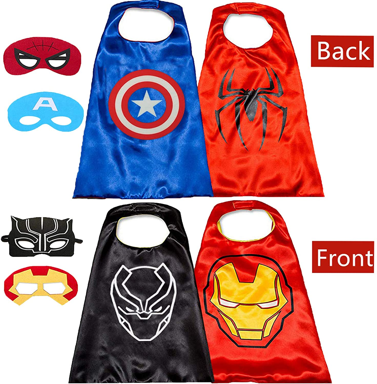 NuGeriAZ Superhero Capes for Kids-Superhero Costumes for Boys Avengers Capes for Kids Dress up 4-10 Year Old Boy Gifts
