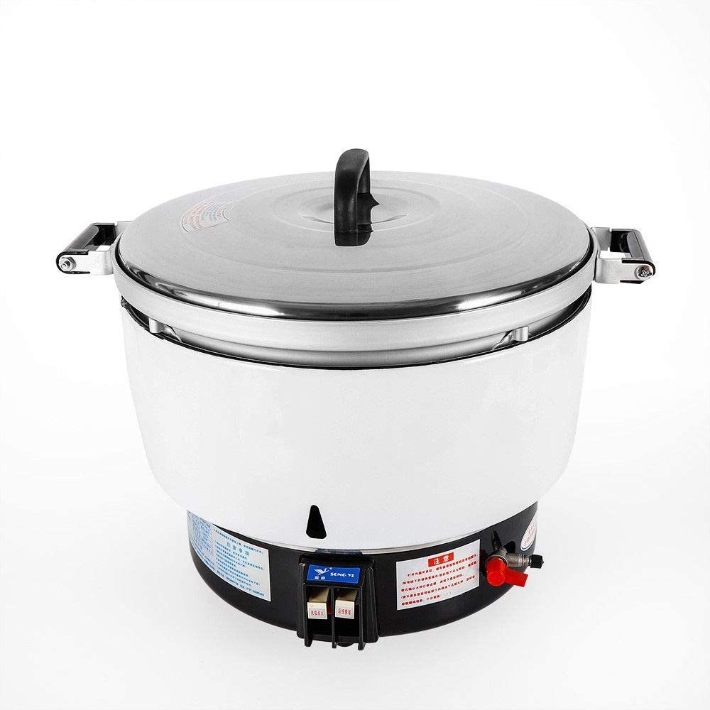 Non-Stick Rice Cooker, 50 Cups Pressure Rice Cooker and Food Steamer, Commercial 10L Capacity Rice Cooker Restaurant Natural Gas (Quickly)
