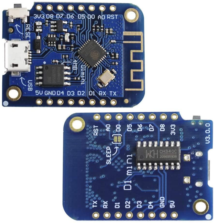 Stemedu D1 Mini V3.0 for Arduino Nodemcu MicroPython 3.3V 4MB with Female Male Pin Header(Pack of 2sets)