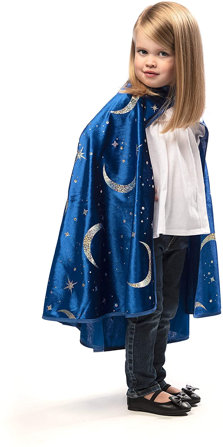 Little Adventures Royal Blue Wizard Costume Cape Age 3+