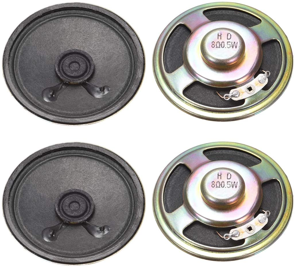 uxcell 0.5W 8 Ohm DIY Magnetic Speaker 57mm Round Shape Replacement Loudspeaker for 4pcs