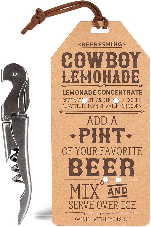 Cowboy Lemonade Silver Tone 6 inch Stainless Steel Bar Multitool Bottle Opener