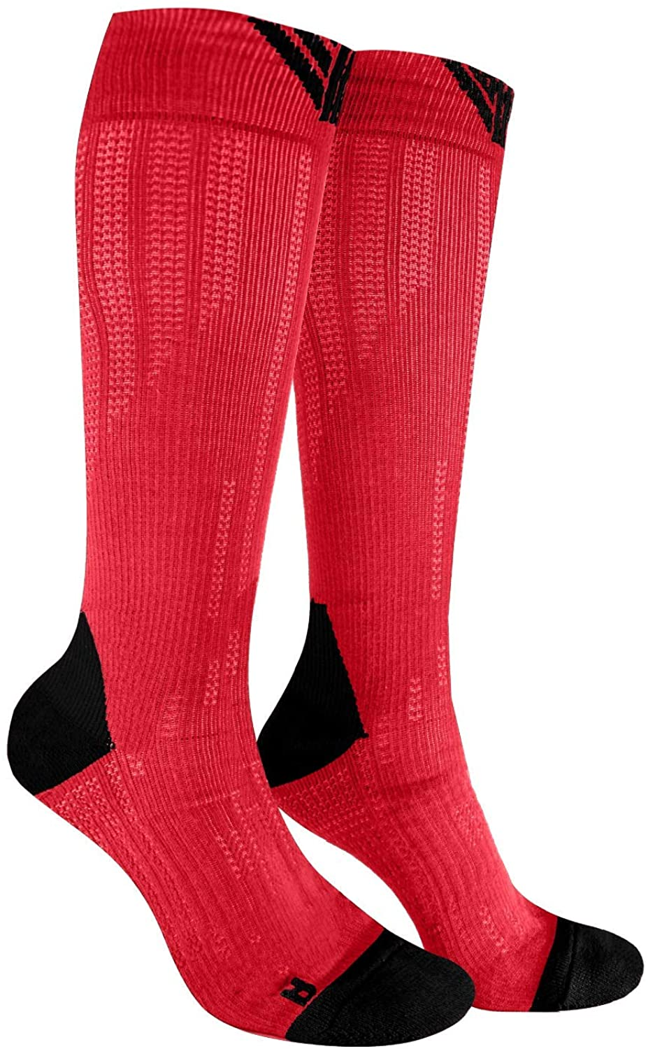 Again 1231 Colorful 3D Compression Cushion Knee High Socks 3D Knit Technology