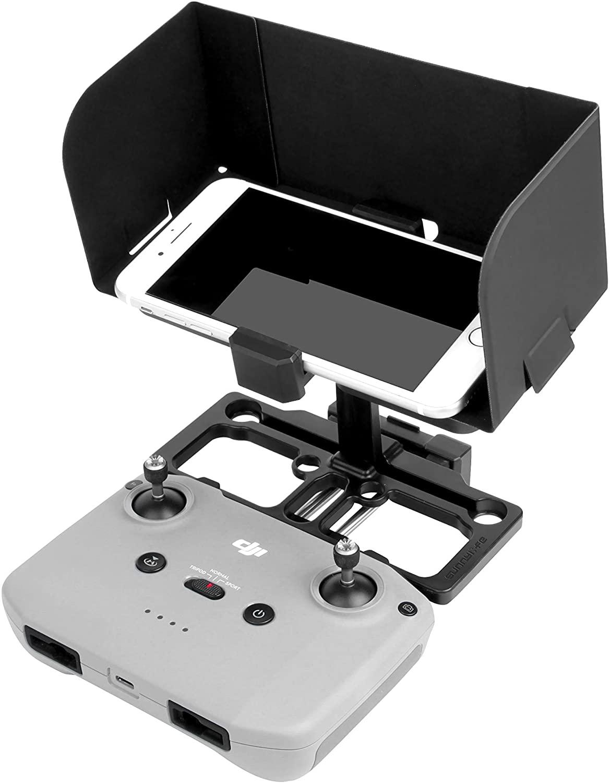 Sunshade Sun Hood with Phone Holder Mount for DJI Mavic Air 2/ Mavic Mini/Mavic Pro/Mavic 2 / Mavic Air/Spark Remote Controller,Drone Accessories