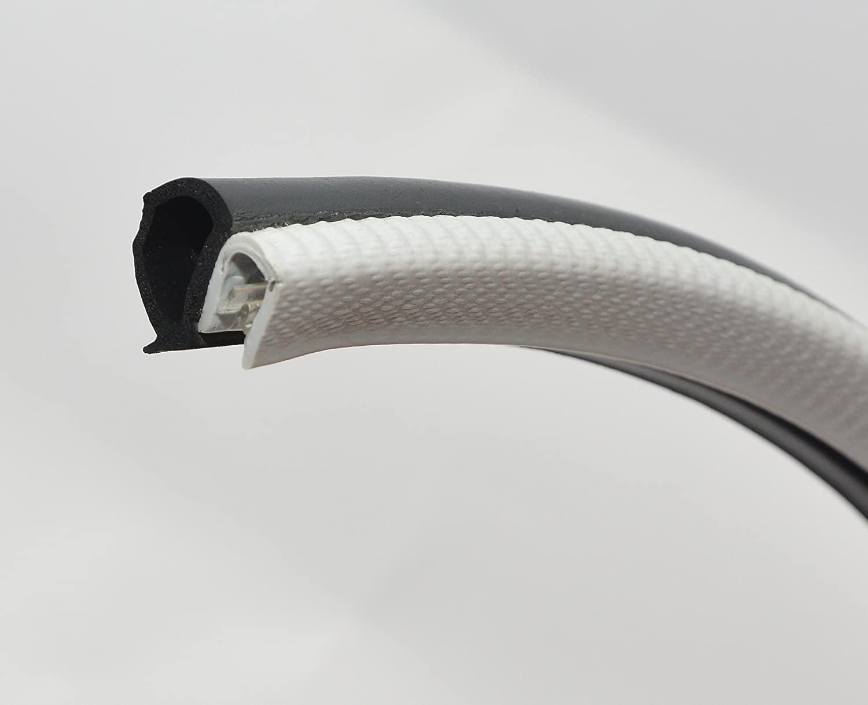 Light Gray Door Rubber Seal extrusion Horizontal Bulb 16mm Bulb Height x 1-3.5mm Grip Range x 13.6mm U Height (4 Meter)