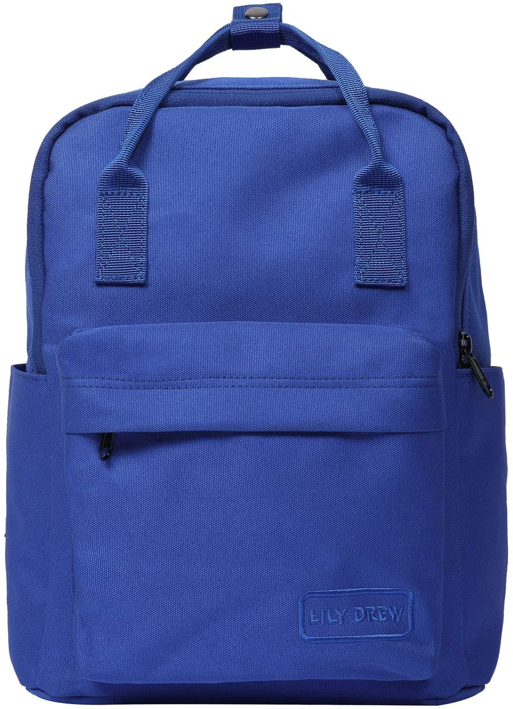 Lily & Drew Small Casual Lightweight Mini Travel Backpack Purse with Top Handles Waterproof for Women (Poly-Royal Blue)