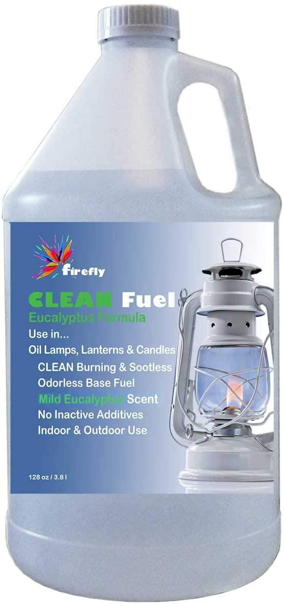 Firefly Eucalyptus Clean Fuel Lamp Oil – Smokeless/Virtually Odorless – Longer Burning – 1 Gallon