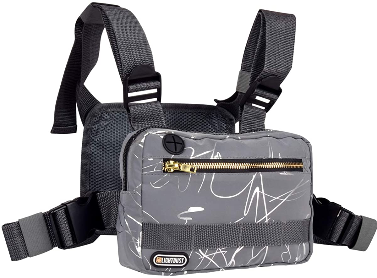 LIGHT DUST Outdoor Sports Chest Bag,Tactical Chest Bag, Men's and Women's Equipment. Leisure Running, Hiking