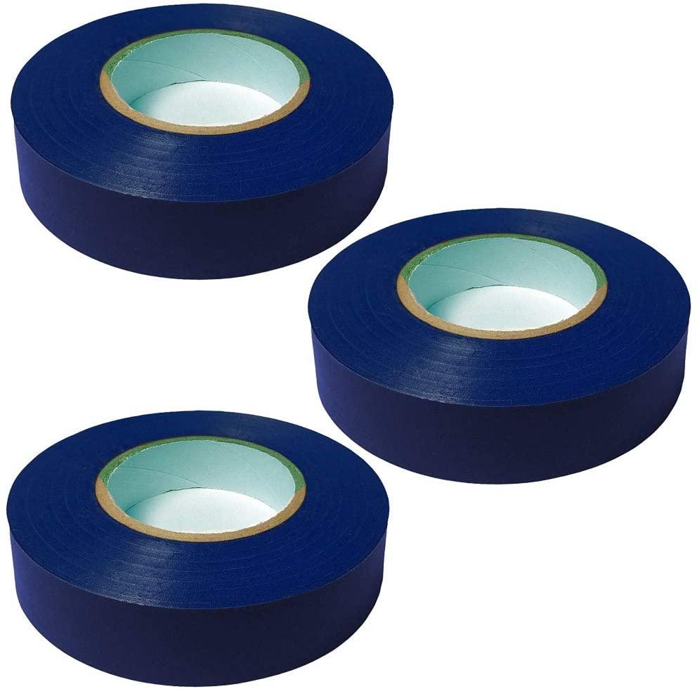 General Purpose Vinyl Electrical Tape - 3/4 Width x 60 Length - Color: Blue - 3 Pack