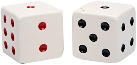 CG SS-CG-20725, Complementing Black and Red Spotted Dice Salt and Pepper Shakers, Multicolor