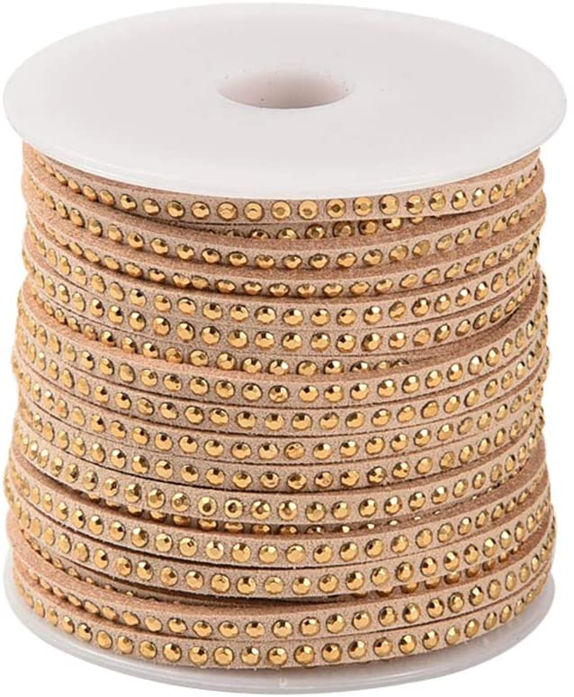 arricraft 1 Roll Burlywood Rivet Faux Suede Cord Faux Suede Lace with Aluminum for Jewelry Making, About 20yards/roll