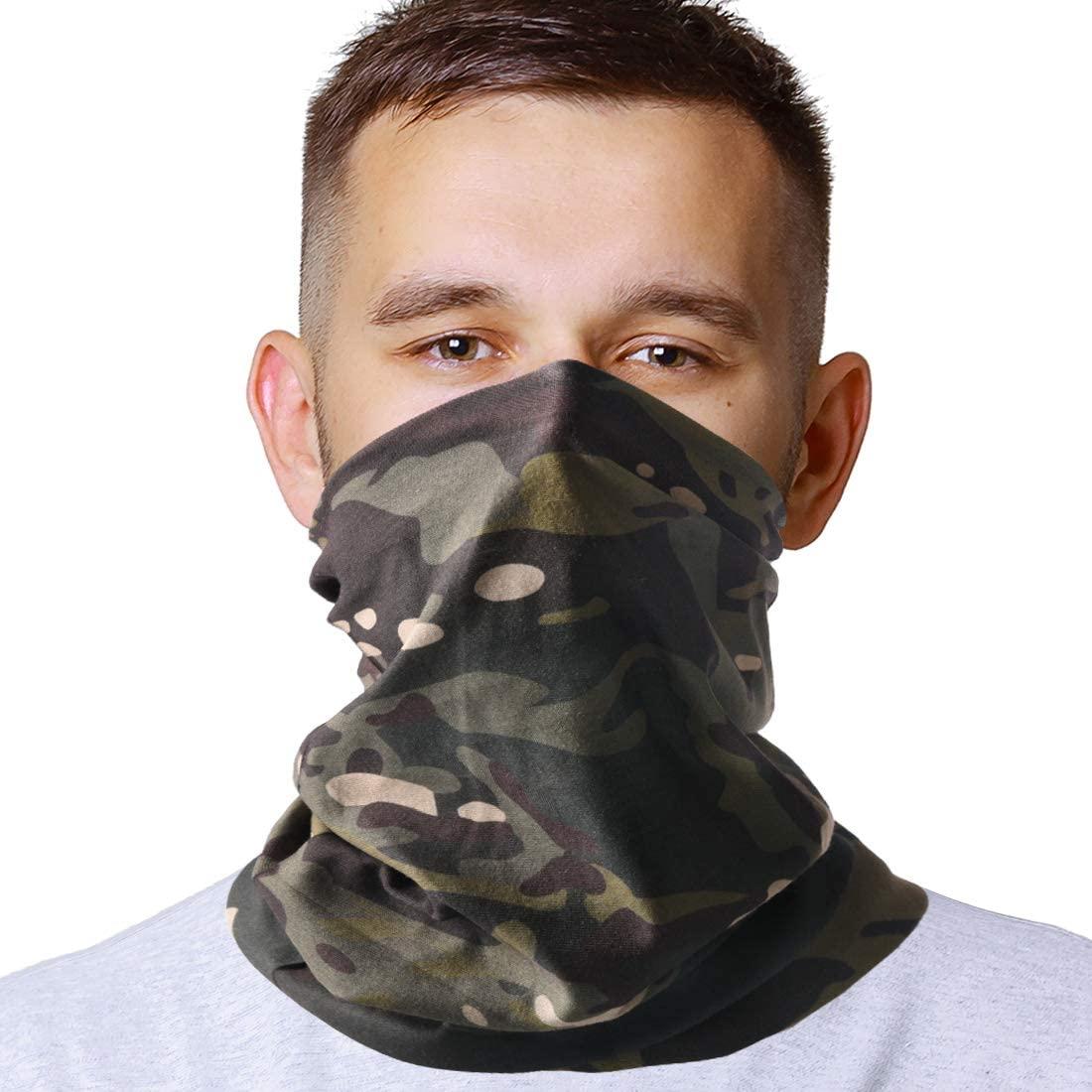 HYOUT Neck Gaiter, Breathable Bandana UV Protection Camouflage Headwear