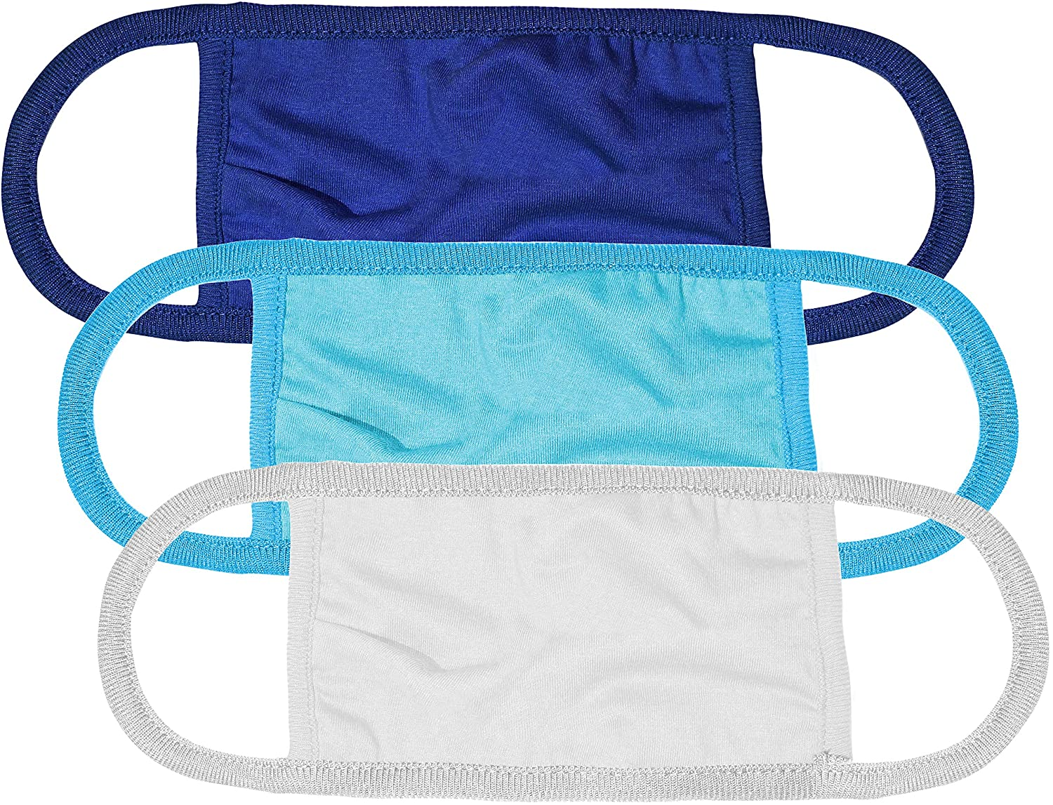 Kingsted Cloth Face Masks - Soft & Comfortable Fabric - Washable Cotton - 2 Ply