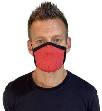 Allmask 2-Layer Reusable Tri Blend Eco Friendly Face Mask (Rise Up Red, 1 Pack)