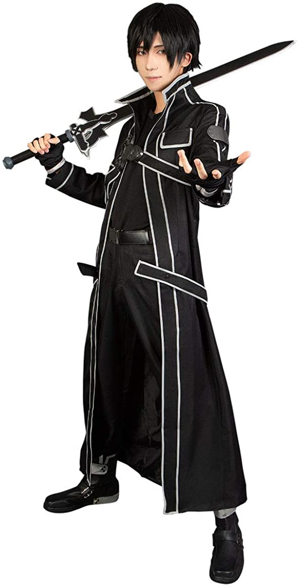 Cosfun Kirigaya Kazuto Cosplay Costume Full Outfit Black mp003071