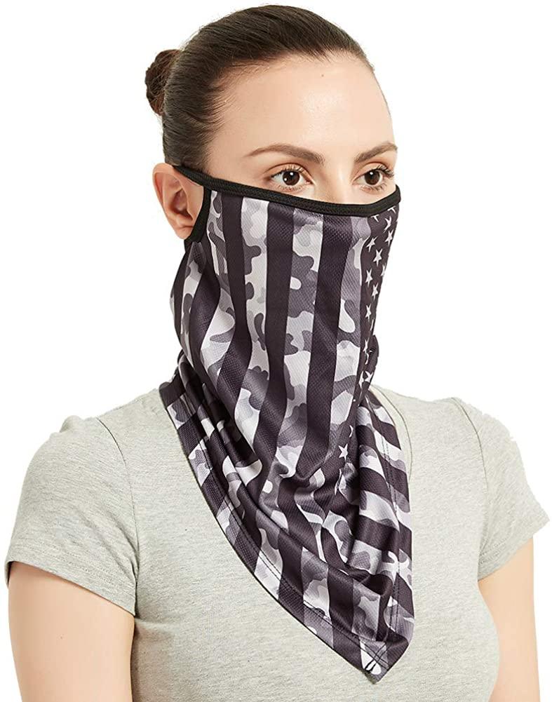 TXXM Unisex Face Gaiter Bandana Ear Loop Balaclava Cover Headwear Sun Protection