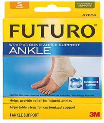 (3M 47874EN) (3M ID Number 70011000232) FUTURO(TM) Wrap Around Ankle Support 47874EN,Small [You are Purchasing The Min Order Quantity which is 12 EACHS]