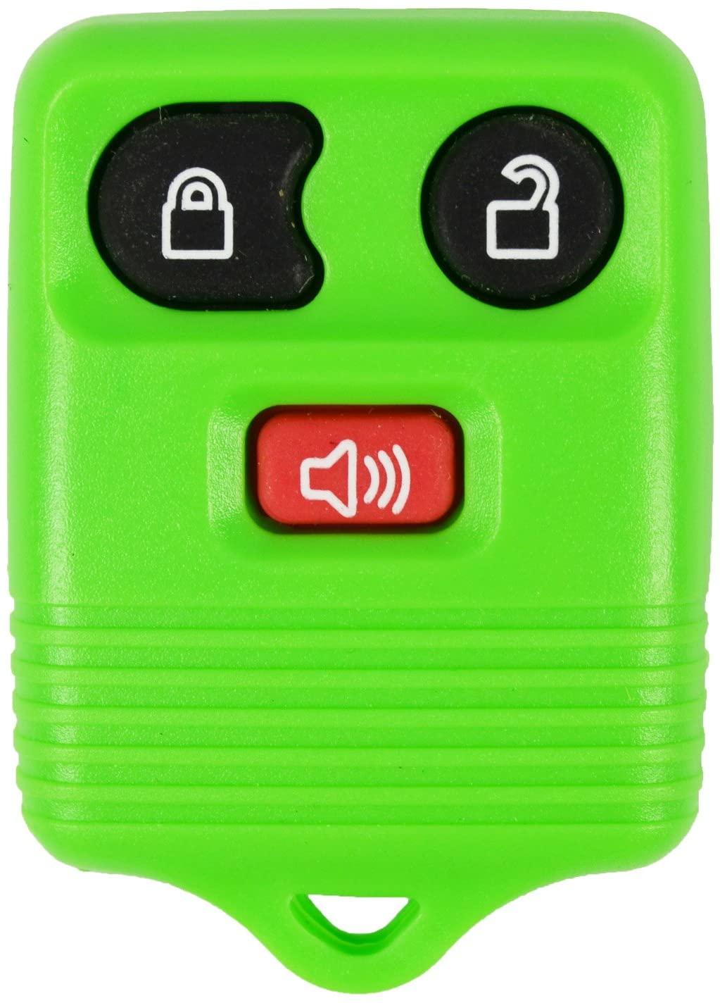 qualitykeylessplus Green Remote Replacement 3 Button Keyless Entry FCC ID: CWTWB1U331 Free KEYTAG