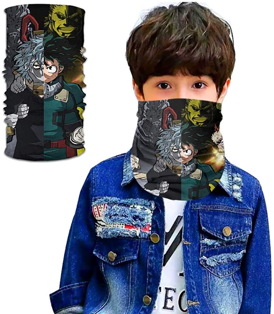 My Hero Academia Seamless Face Cover/Headband, Scarf,Multi-Functional Full-Coverage Tube Bandanas for Boy/Girl