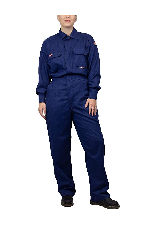 National Safety Apparel TCGSCWN00116LGRG00 Women's Tecgen Select FR Coverall, Large, Navy