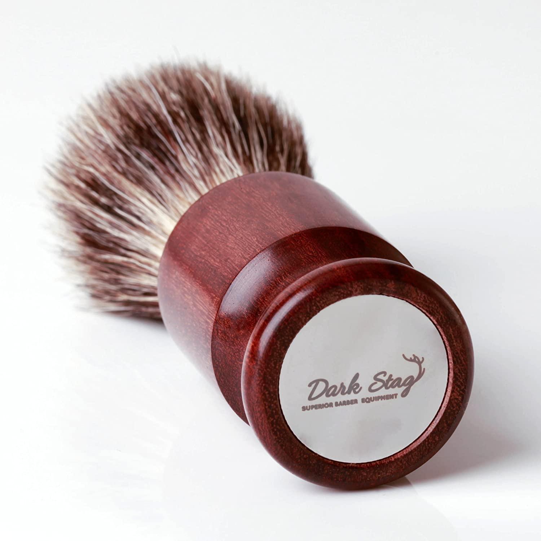 Dark Stag Badger Hair Shaving Brush - Professional Barber Brush for Men