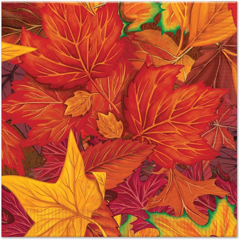Beistle Fall Leaf Beverage Napkins (16 Pack), Multicolor