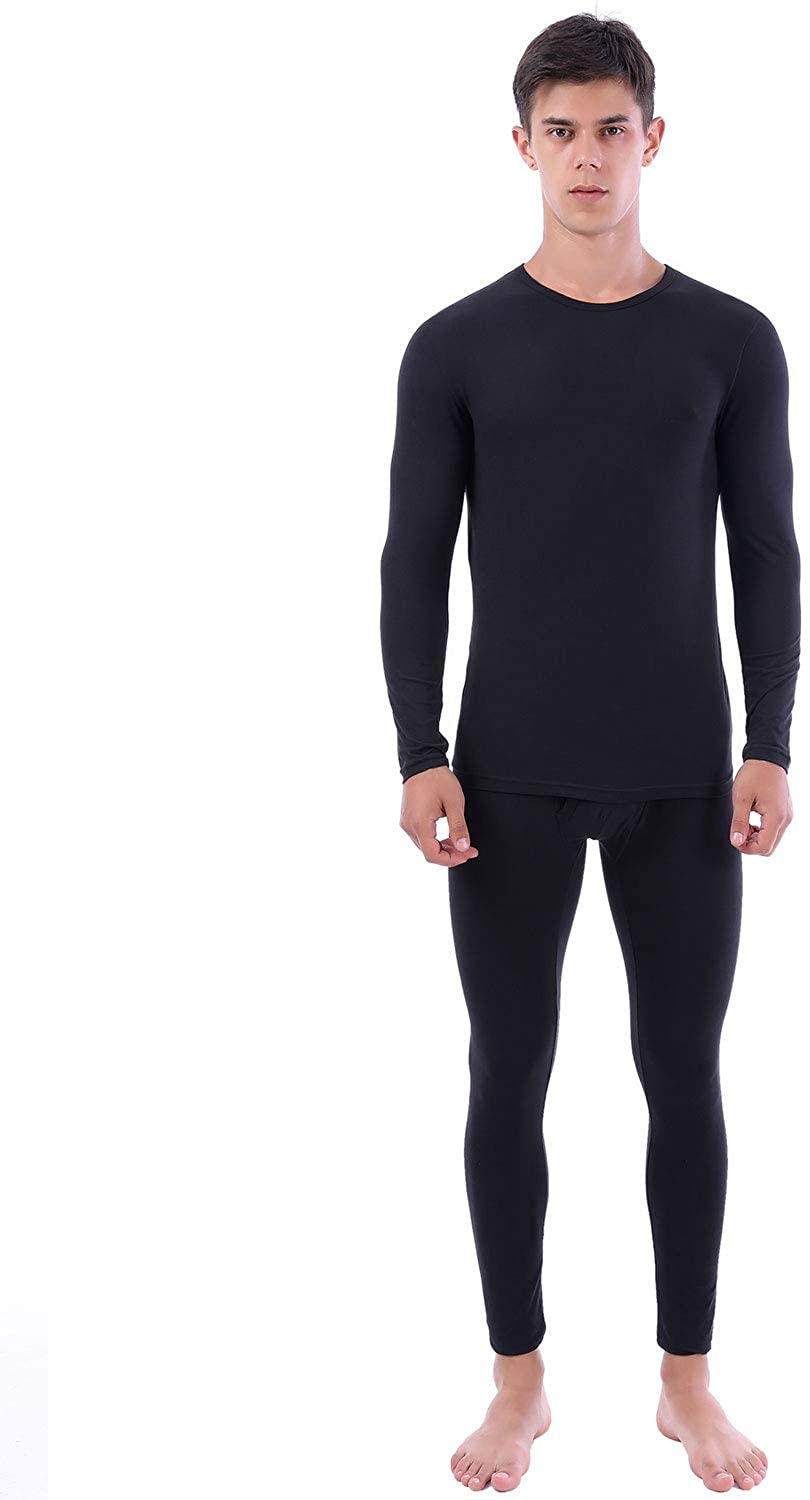 Mens Ultra Soft Thermal Underwear Winter Skiing Base Layer Lightweight Long Johns Set