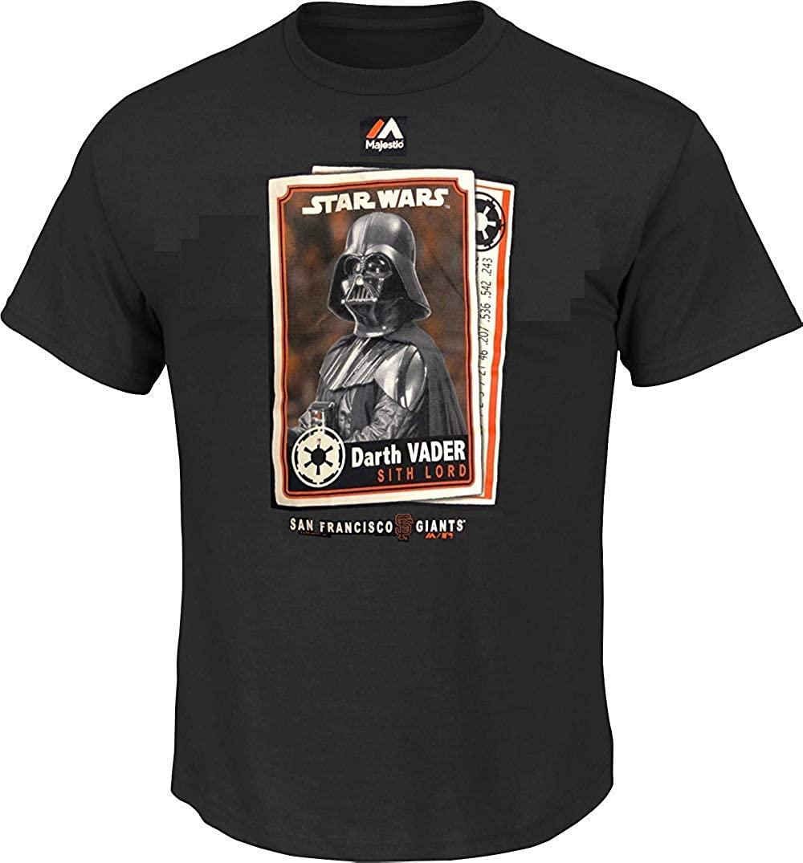 San Francisco Giants MLB Majestic Youth 8-20 Star Wars Day May The 4th Darth Vader T-Shirt - Black