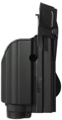 IMI-Defense Black Tactical Gun Holster for Tactical Light/Laser Level II for SIG Sauer MK25 (1500)