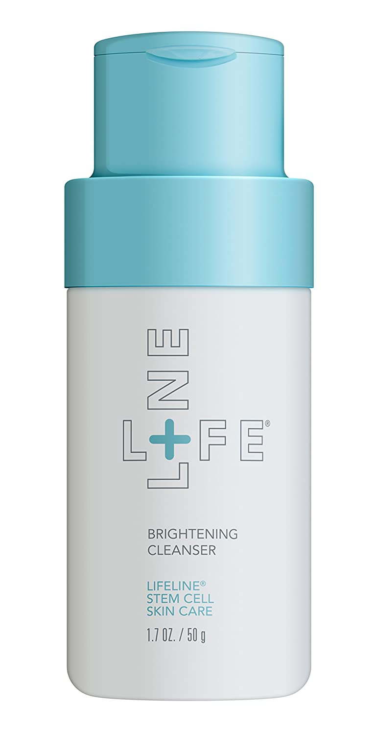 Lifeline Skincare Brightening Cleanser with Salicylic Acid and Rice Enzyme powder exfoliate dead cells, instantly smooths and brightens skin