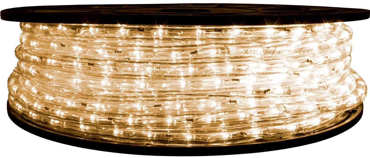 Brilliant Brand Lighting Warm White LED Rope Light - 120 Volt - 65 Feet