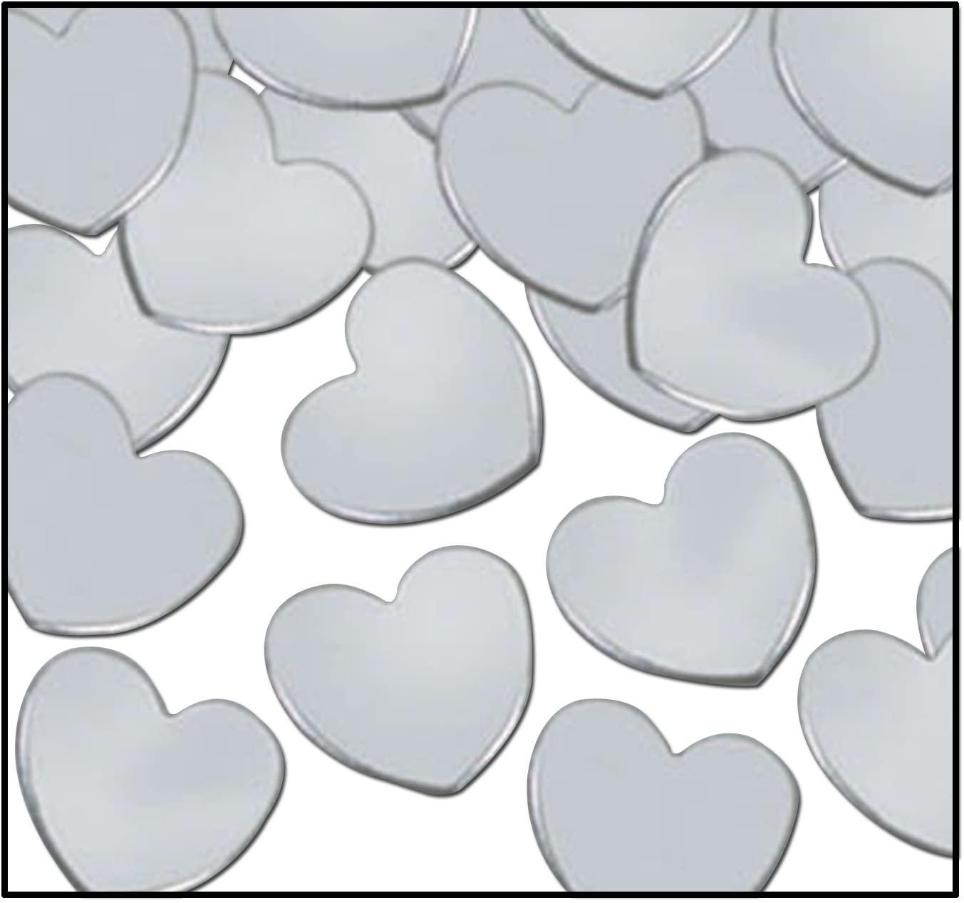 Fanci-Fetti Hearts (silver) Party Accessory  (1 count) (1 Oz/Pkg)