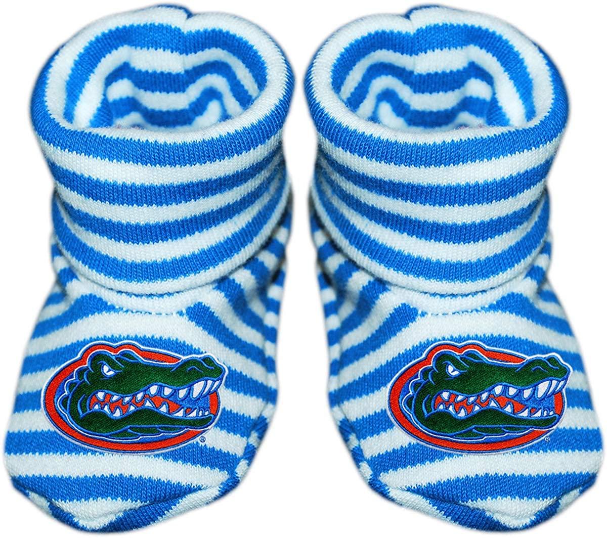 University of Florida Gators Newborn Baby Striped Bootie Sock