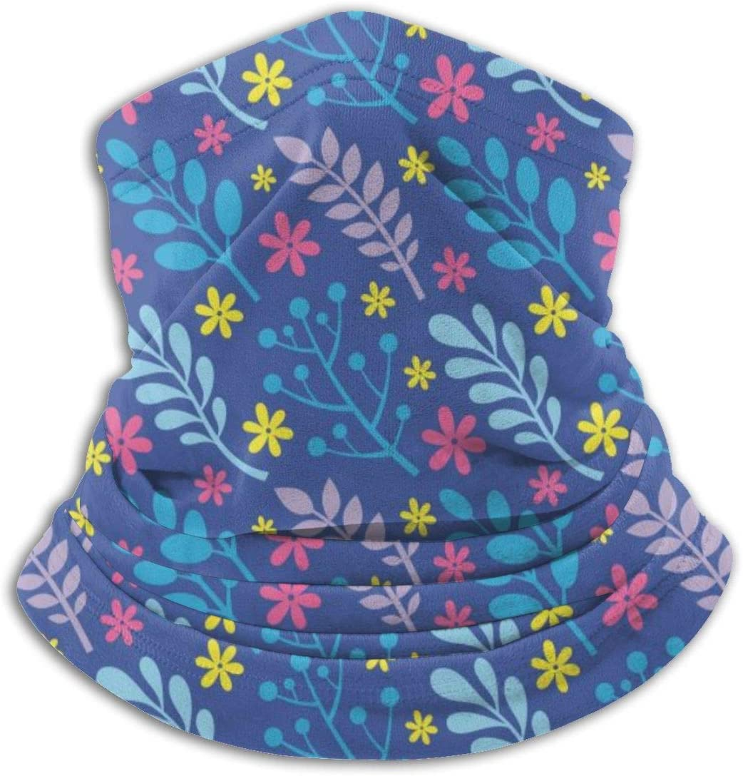 ~ Leaves Flowers Berries Plants Neck Gaiter Balaclava Bandana Headwear, Sports Face Mask Scarf for Dust Outdoors