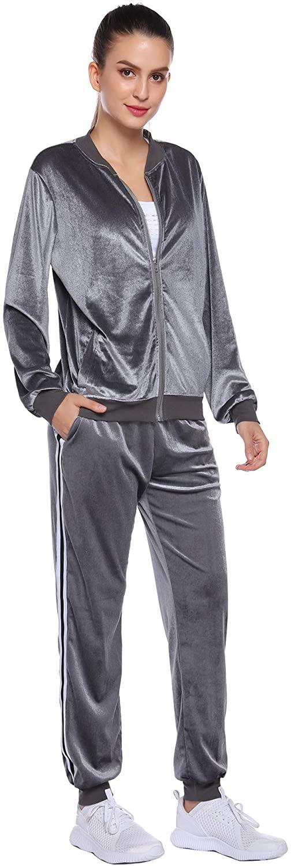 iClosam Women's Tracksuit Set Long Sleeve Zip Up Hoodie and Pants Sets Sweatsuits Set