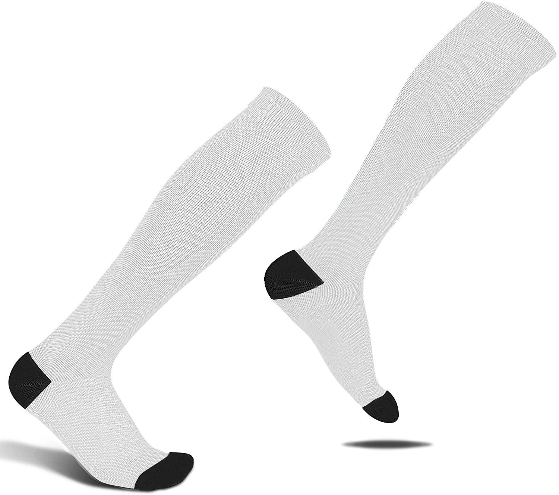Amvontz Men Women Compression Socks: 20-30mmhg Nylon Lycra Anti DVT Knee High Medical Circula