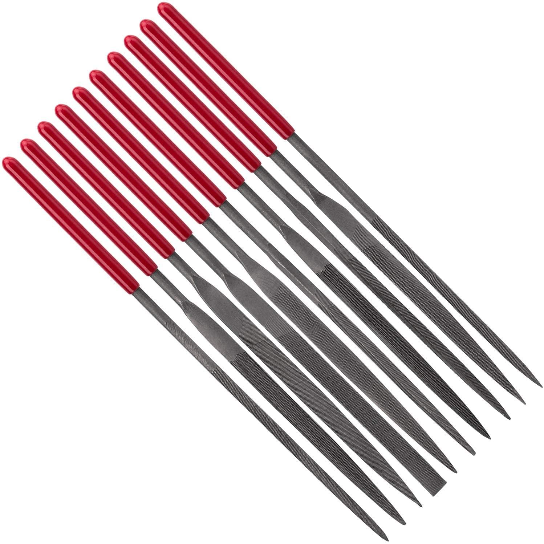 ANCIRS 10 Pack Needle File Set, Mini Needle Jewelry File Set, Hardened Alloy Strength Steel Files