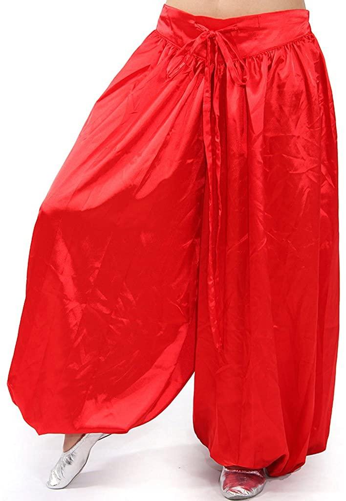 MUNAFIE Belly Dance Arab Carnival Satin Pants