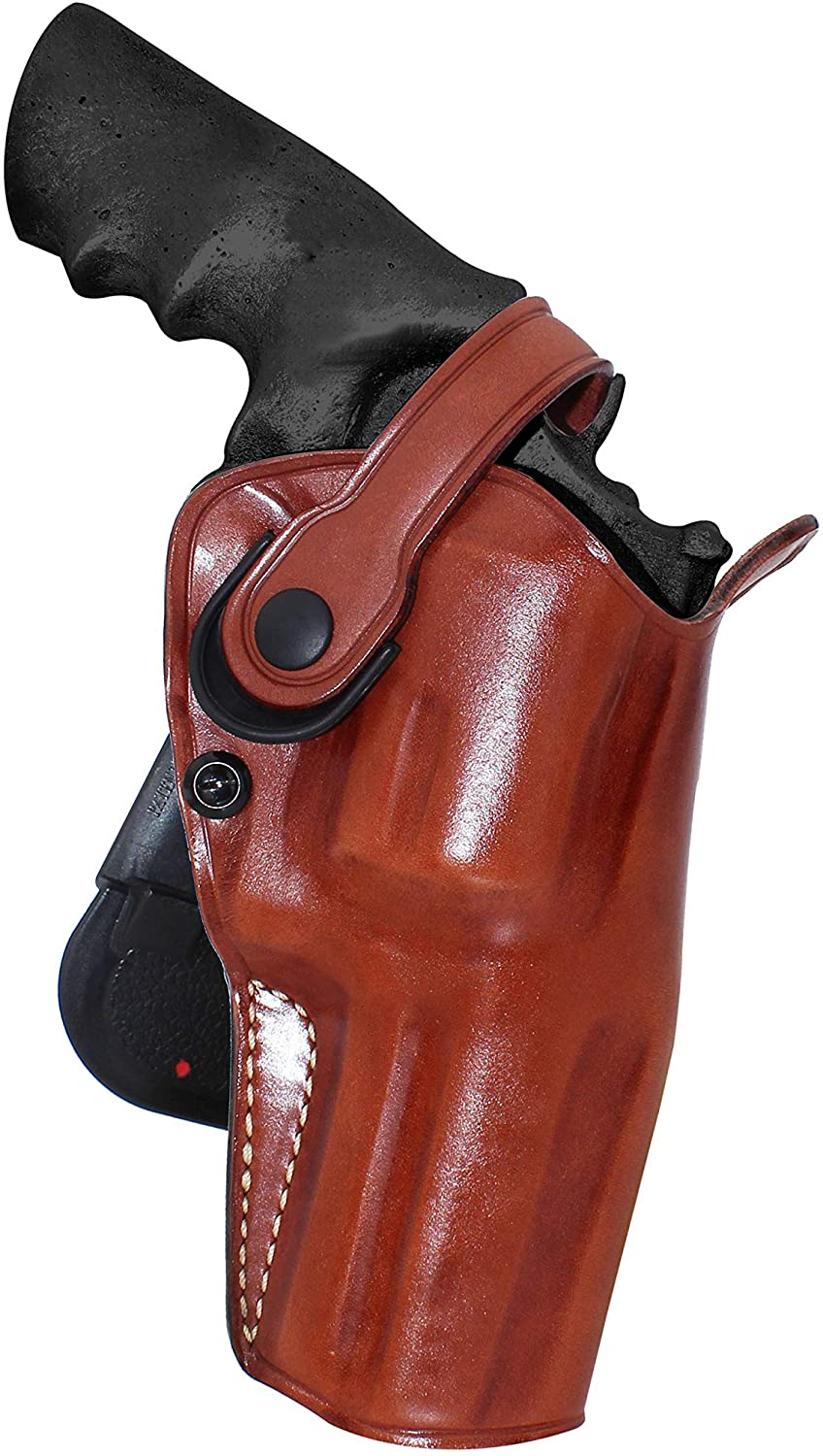 Premium Leather Paddle Holster OWB with Retention Strap Fits Smith Wesson Model 500 Magnum X-Frame 4