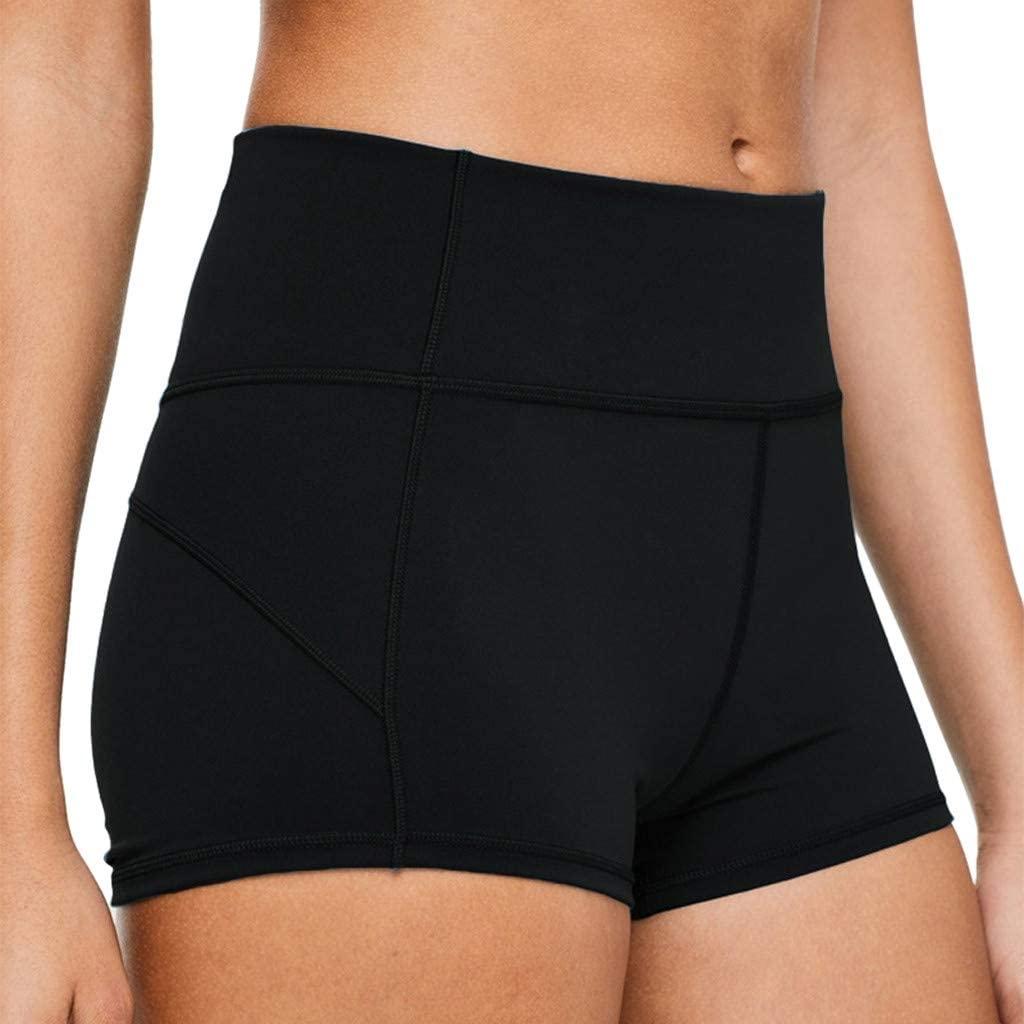 Hessimy High Waist Yoga Shorts for Women Tummy Control Athletic Workout Shorts