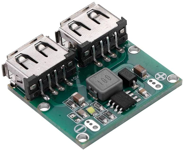 Taidda USB Charger Module, Sturdy Durable Portable Lightweight 5V 3A DC-DC Converter Step Down Dual USB Charger Power Supply Module for Android Series