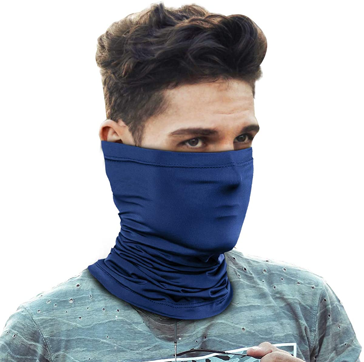 Face Mask Reusable Bandana Neck Gaiters Sun UV Protection Face Cover Scarf Dust Wind Balaclava for Fishing Hiking