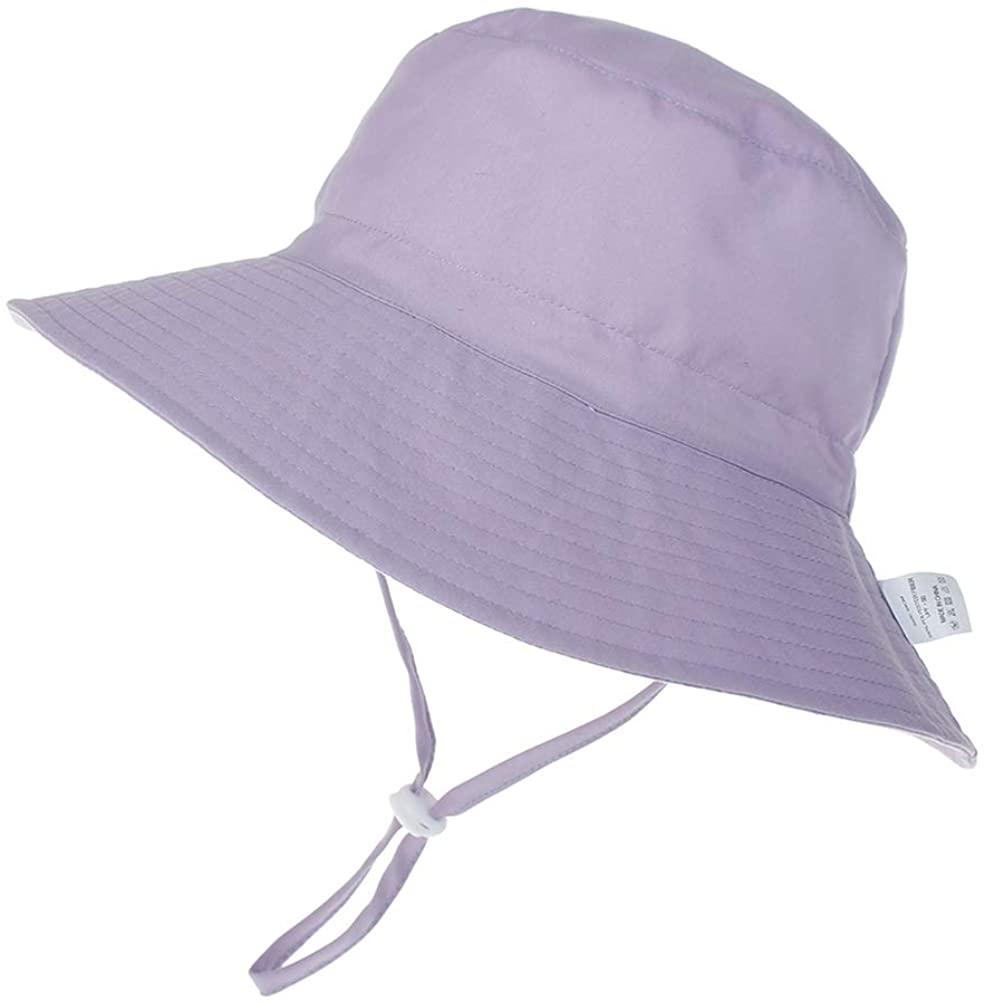 Baby Girls UPF 50+ UV Ray Sun Protection Wide Brim Baby Sun Hat,Toddler Beach Hat