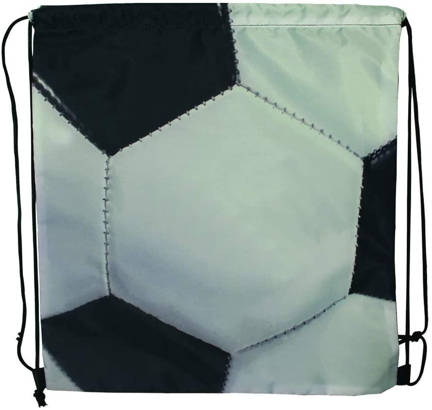 Sports Drawstring Backpack, Soccer, Set of 6