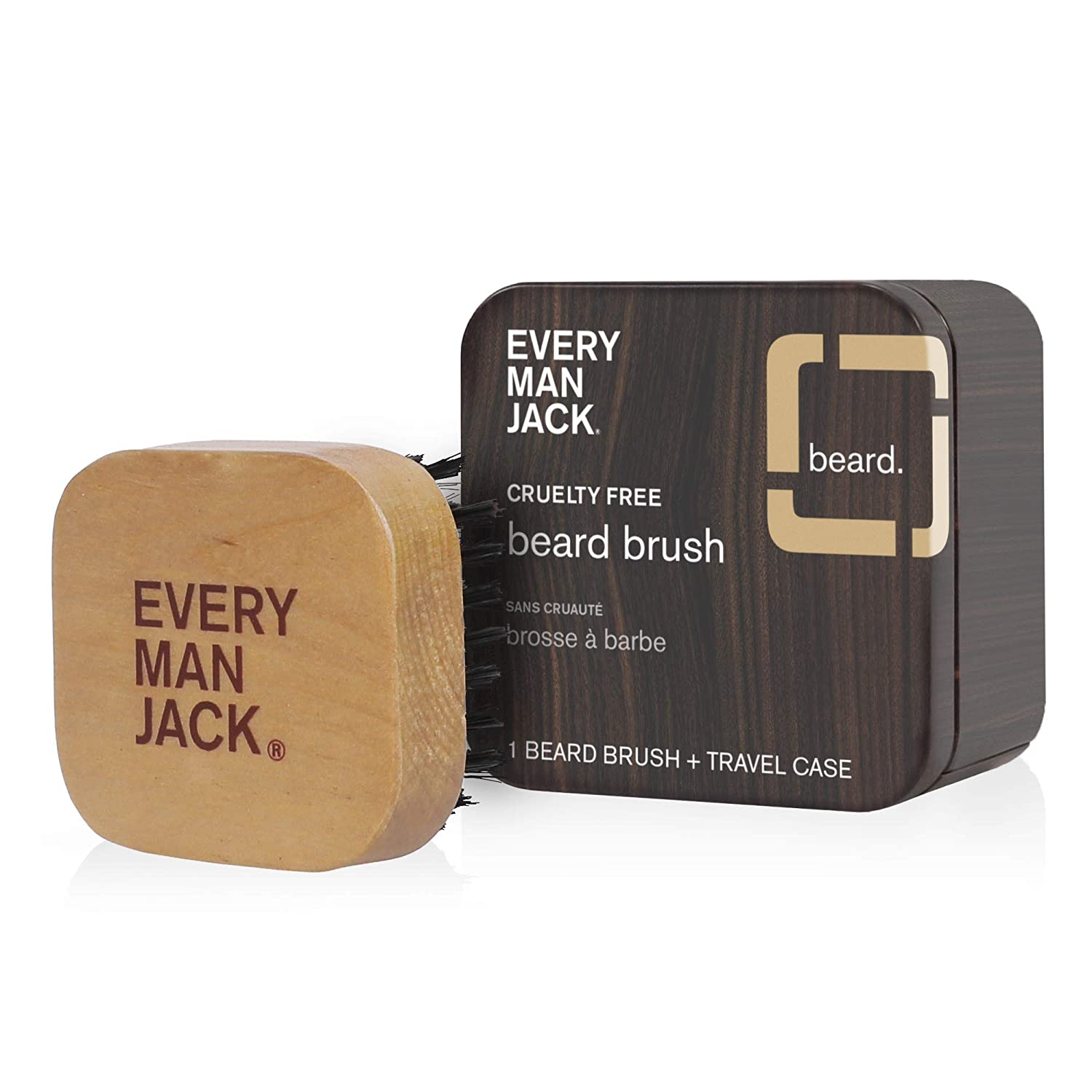 Every Man Jack Beard Brush, Woodgrain